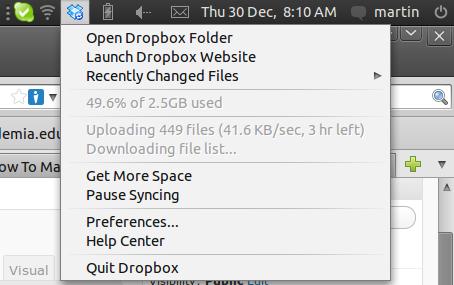 Dropbox Synchronizing