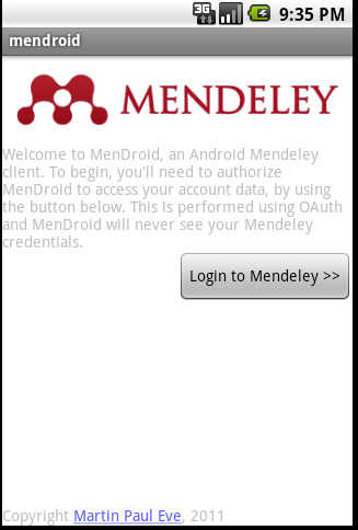 Mendroid screenshot