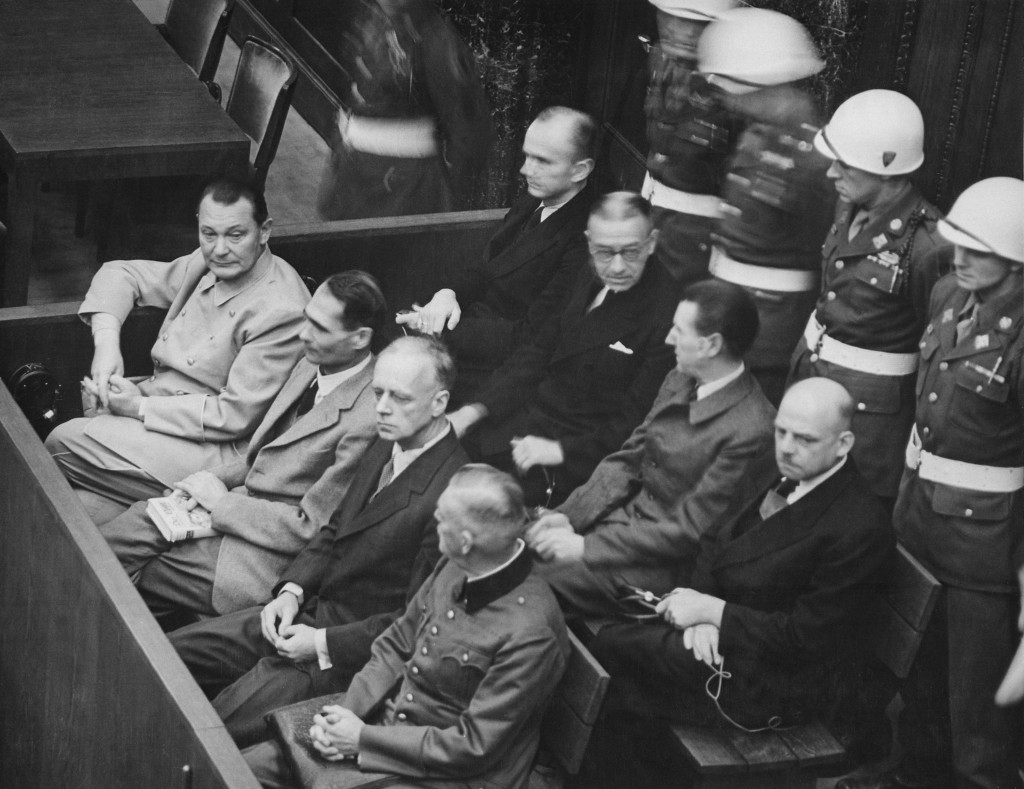 Defendants at the Nuremberg Trials