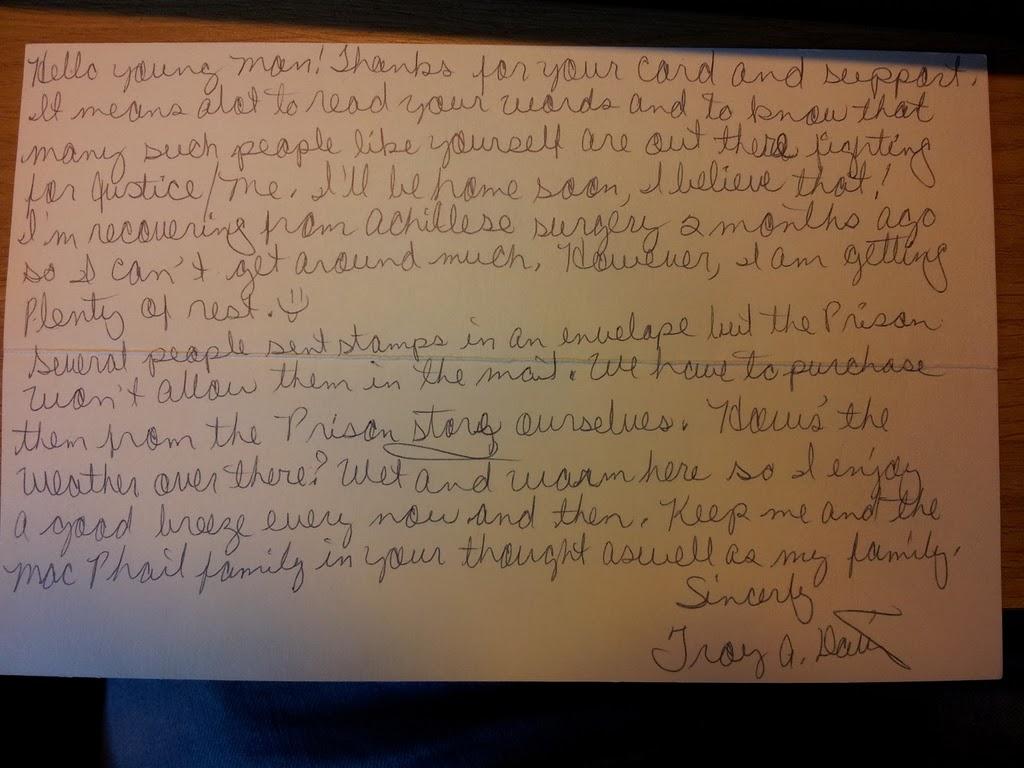 Letter from Troy Davis